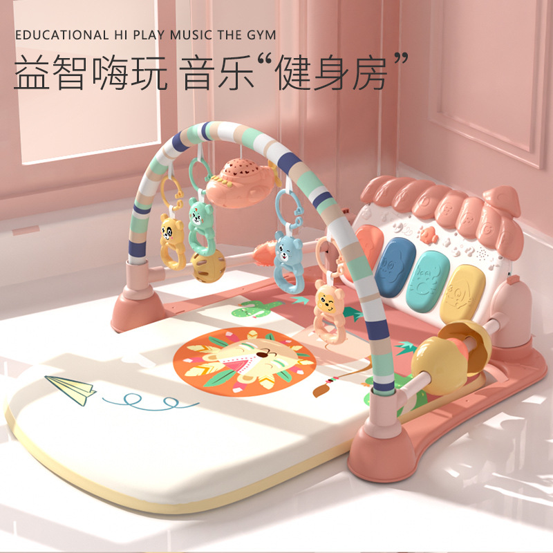 新生儿益智脚踏琴0-3岁钢琴健身架男女宝宝音乐游戏毯玩具摇铃