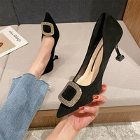 528-7 point temperament diamond wedding shoes lady fine summer new documentary shallow mouth high-heeled shoes wholesale of Europe and America