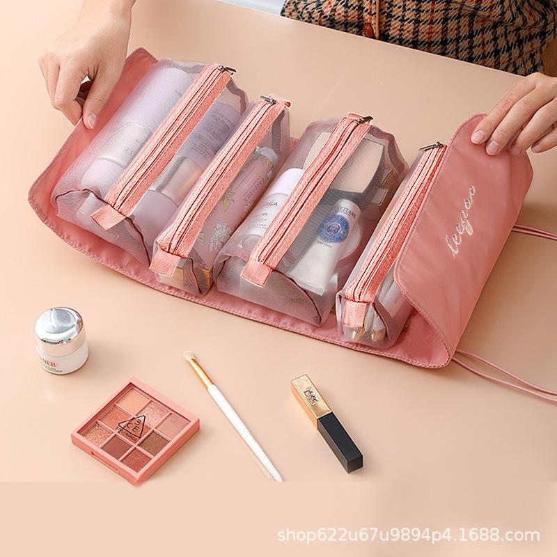 2021可拆分化妆包便携大容量四合一随身折叠旅行化妆品收纳洗漱包