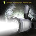 跨境新品 P8强光手电探照灯LED多功能一体照明露营可充电