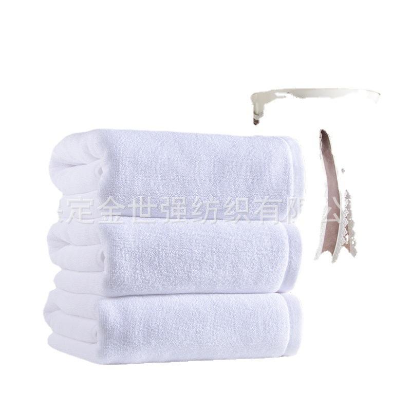 纯棉酒店毛巾100克宾馆毛巾汗蒸桑拿洗浴白毛巾批发美容院用刺绣