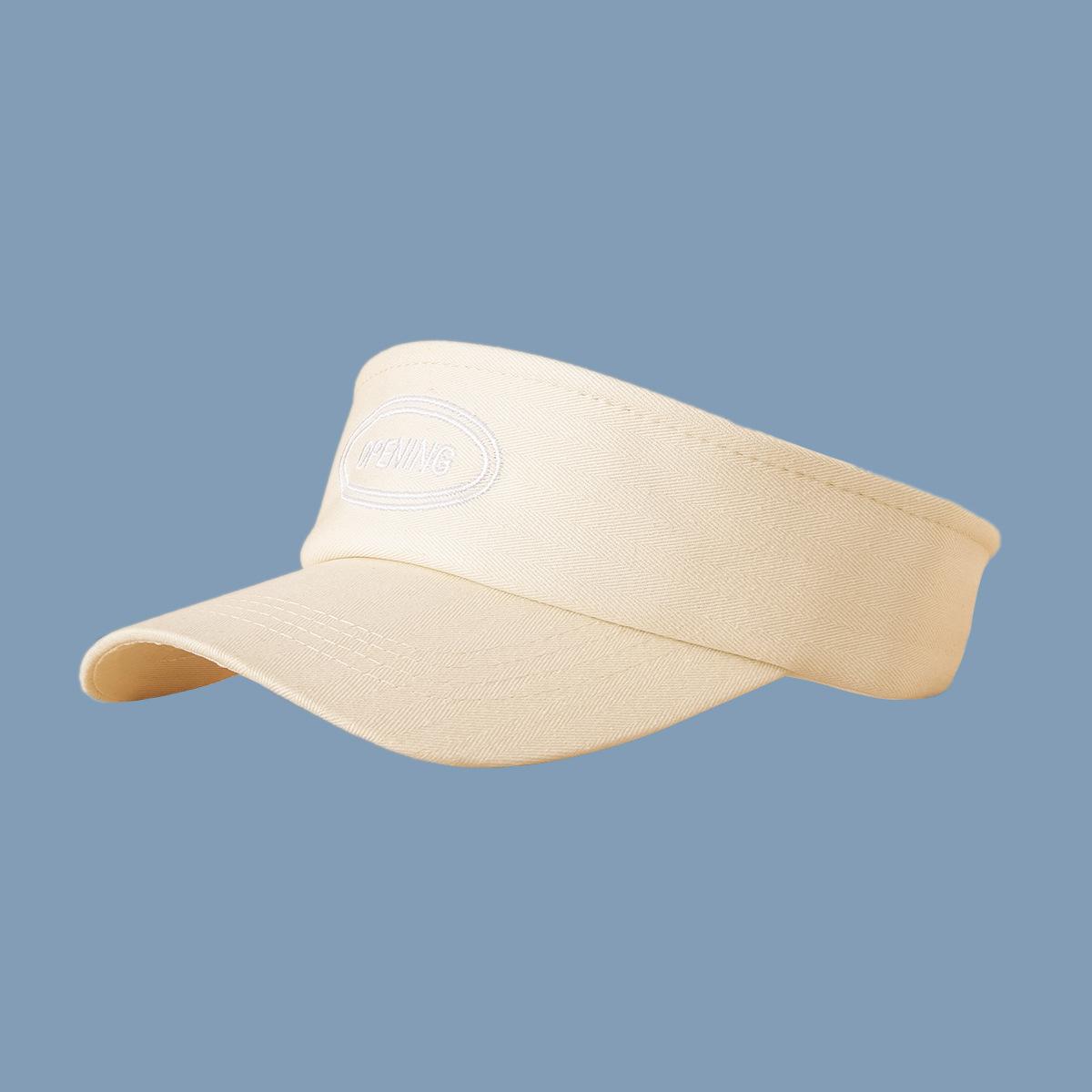 Korean sunshade empty top cap wholesale NHTQ332412