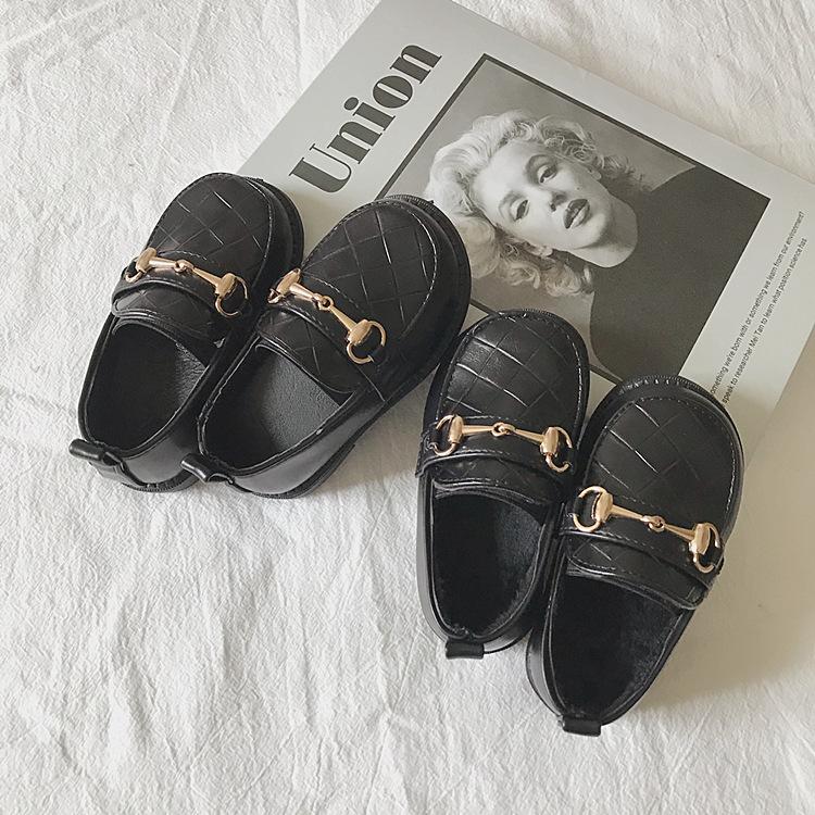 女宝宝公主鞋2021新款洋气女童鞋子秋冬百搭小童皮鞋女软底英伦风
