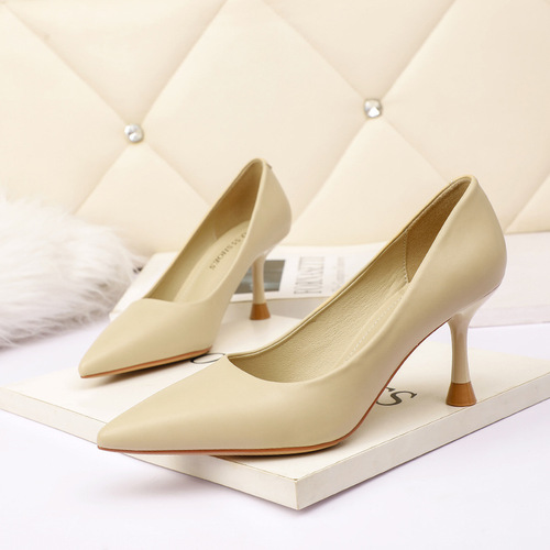 Han edition style 1727-1 point light show thin mouth high-heeled shoes nightclub sexy women's shoes professional fine with OL for women's shoes