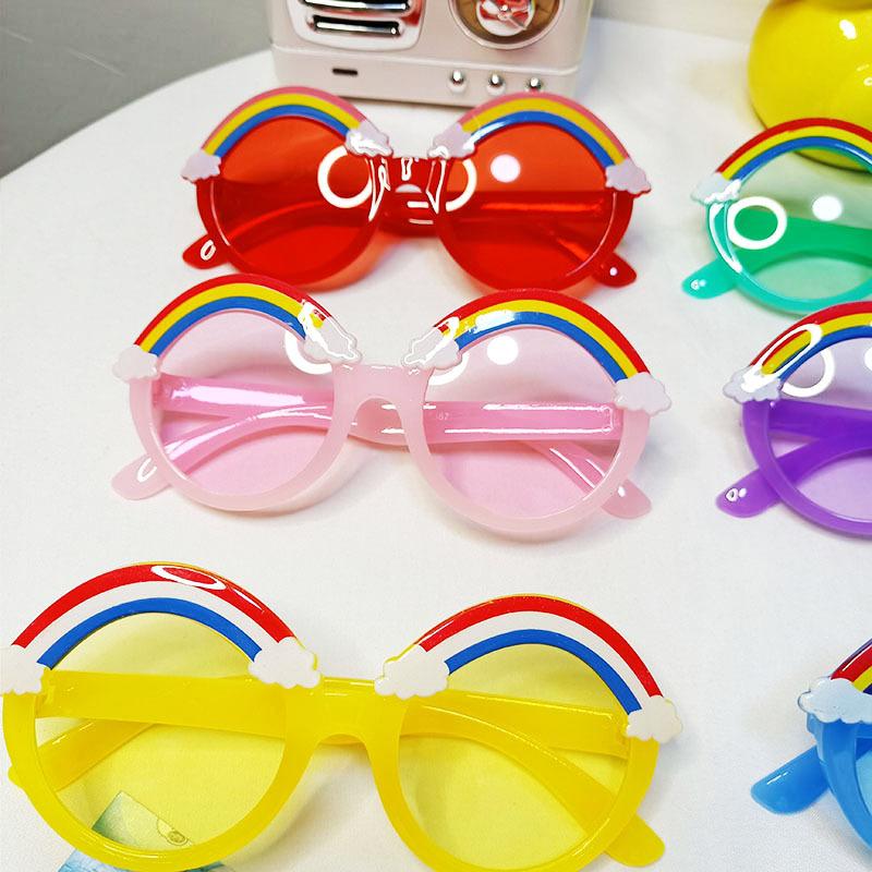 Childrens UV protection cute funny rainbow sunglasses  NHBA311499