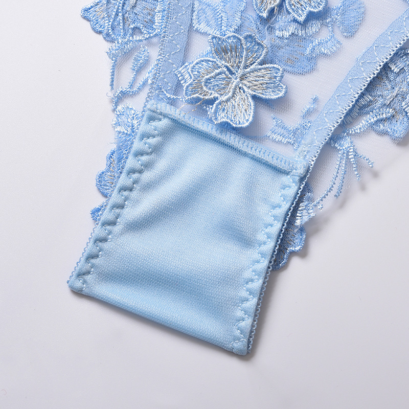flower embroidery perspective two-piece set NSYX64024