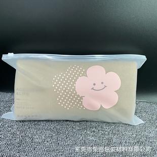 Transparent frosted zipper bag socks clothing packaging bag custom pe plastic ziplock bag underwear clothing zipper bag