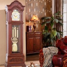 德国赫姆勒欧式落地钟客厅别墅中式复古立式大摆钟橡木机械大座钟