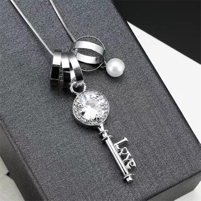 fashion key pendant necklace  NHVA307755