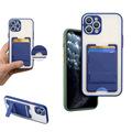 跨境新款二合一卡套手机壳 卡套支架保护壳 插卡支架手机保护套