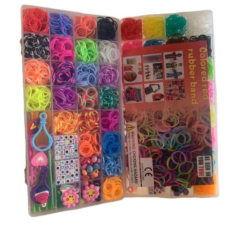 32格彩虹皮筋手工编织器DIY彩色橡皮筋益智儿童玩具编织手链套装