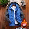 冬季新款户外运动登山服男防风加绒加厚冲锋衣防寒棉衣女外套上衣