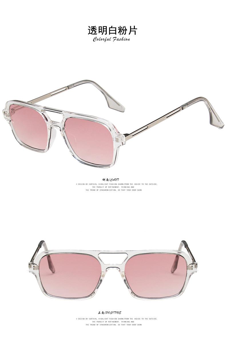 fashion simple double beam hollow sunglasses  NHKD317665