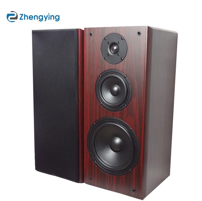 厂家批发 8寸高中低三分频书架Hifi音箱木质7欧无源音箱落地音箱