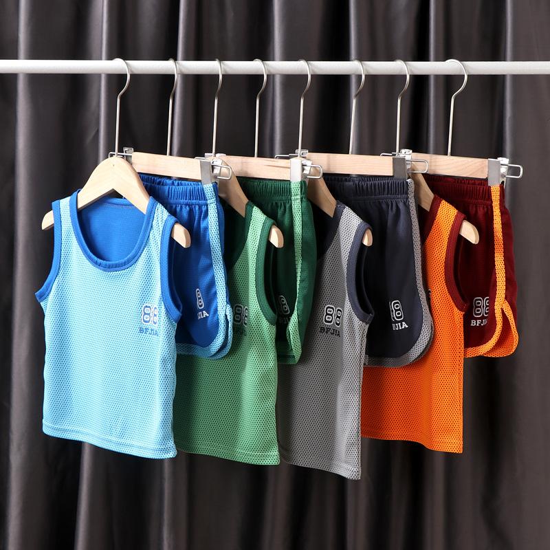 儿童背心套装篮球服夏季男童运动速干衣背心套装宝宝球衣童装批发