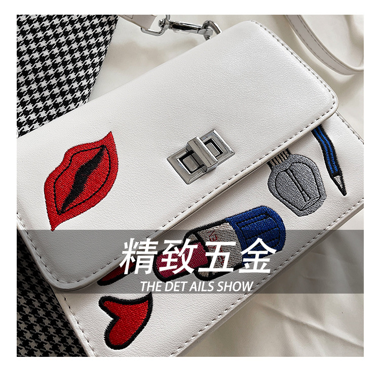 new fashion square embroidered messenger bag NHLH334176