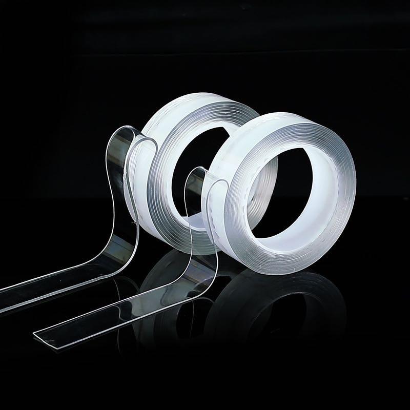 纳米胶带亚克力双面胶透明防水无痕耐高温万次水洗抖音魔力胶定制
