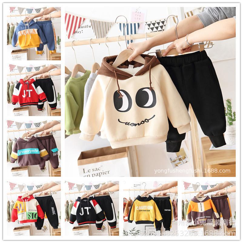 童卫衣套装2021秋冬新款韩版儿童卫衣套装时尚两件套外贸货源批发
