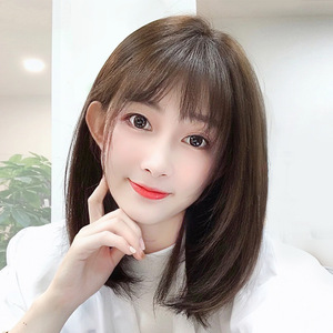 Wig female mid-length hair Clavicle short hair photo shooting cosplay wig natural age reduction simulation headgear