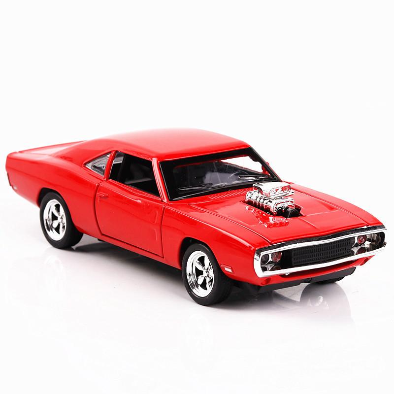 盒装 建元速度激情道奇挑战者仿真1:32合金车模儿童跑车汽车模型