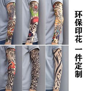 Tattoo sleeves flower arm tattoo sleeve sleeve men and women riding arm guard driving ice silk seamless sun protection sleeve sleeve custom logo