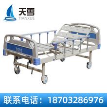 多功能双板床 不锈钢手动单摇静音轮床多功能折叠床 带静音轮