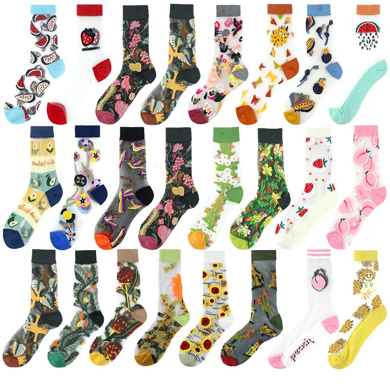 Women's casual flowers in the tube socks