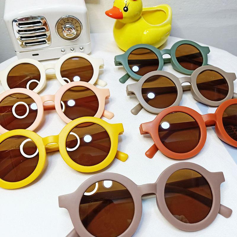New fashion Korean childrens round frame UV protection sunglasses NHBA311483