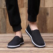 厂家直销老北京布鞋男士舒适黑布鞋手工练功鞋休闲鞋传统黑布鞋