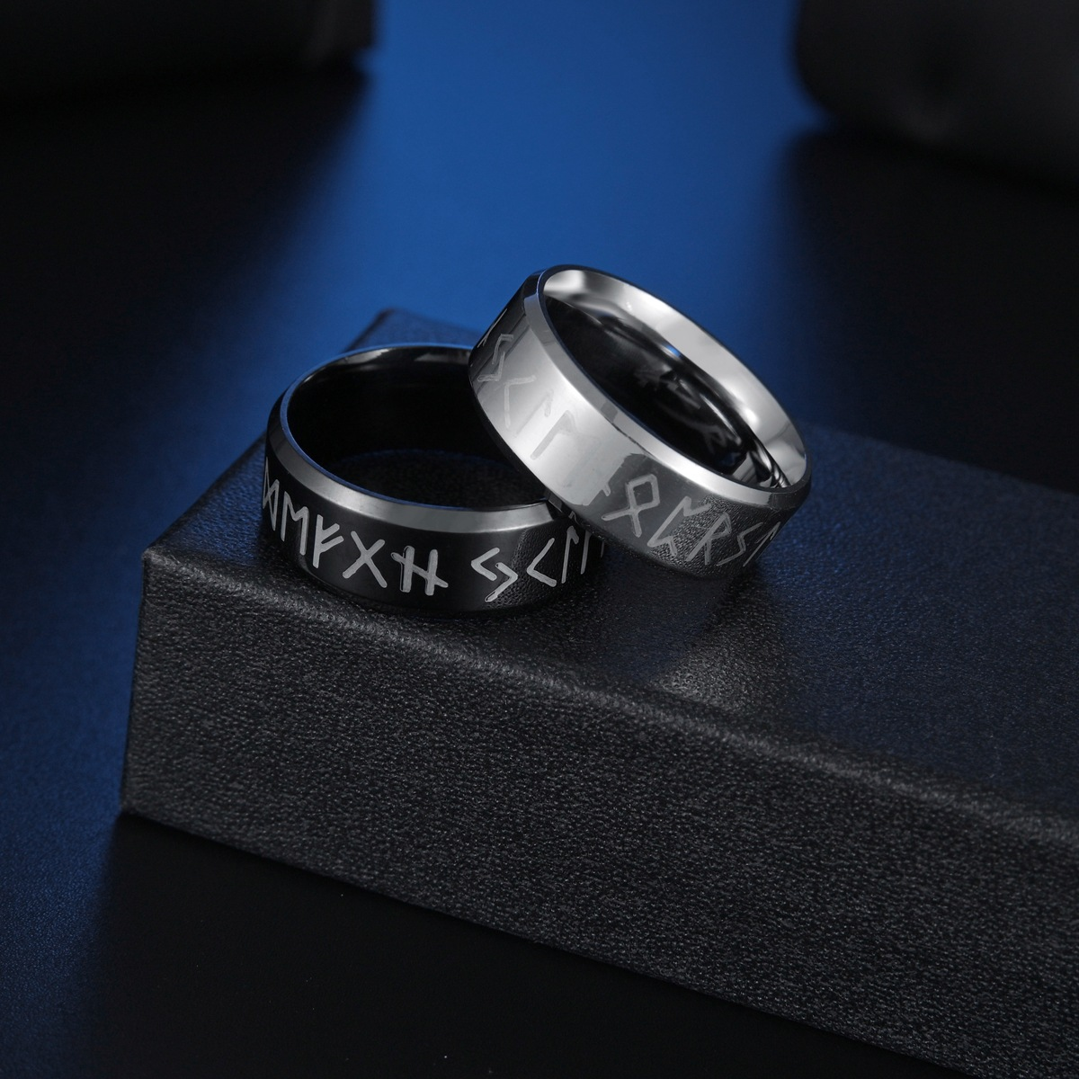 Fashion Viking letters stainless steel ring  NHSOM365804