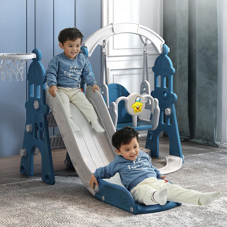 儿童室内户外家庭用宝宝楼梯带滑滑梯小孩秋千婴儿小型组合玩具