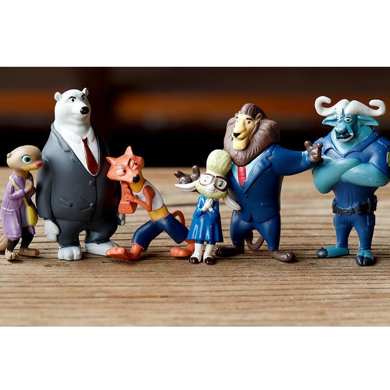zootopia疯狂动物城兔子朱迪狐尼克公仔摆件玩偶蛋糕装饰儿童玩具