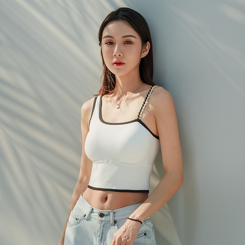 Irregular Beauty Back Wrapped Chest Summer Camisole Gathered Tube Top Underwear
