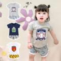 童装 韩版卡通夏季宝宝套装棒球儿童衣服运动两件套纯棉婴儿服装