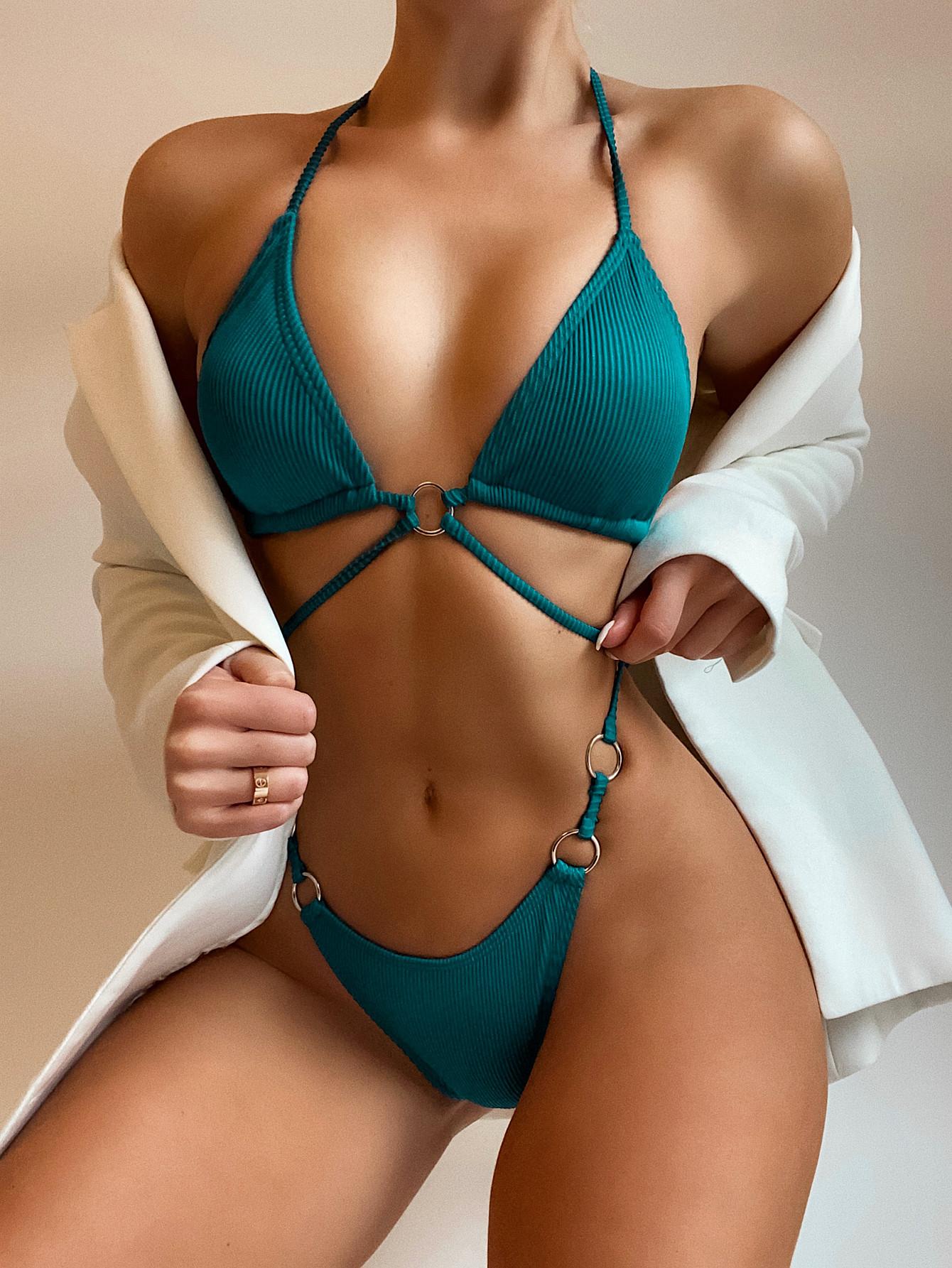 pit strip solid color sexy bikini  NSDA51932