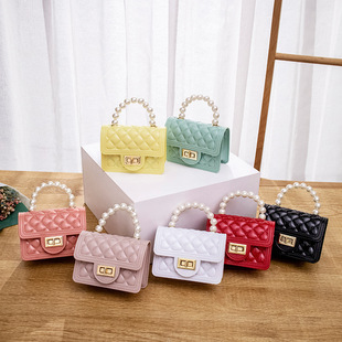 Women's bags 2021 new lock buckle pearl handle chain Kelly mini jelly bag casual lipstick bag small bag