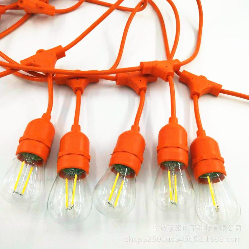 厂家供应欧规养殖灯串线 欧规防水e27串联电源线 led装饰灯串