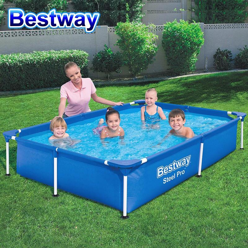 Bestway 支架儿童游泳池加厚非充气家庭式家用宝宝洗澡池成人泳池