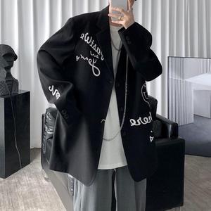 អាវធំ បុរស Men Casual Suit Hong Kong Style New Loose Jacket PZ947444