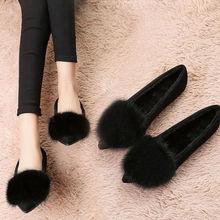 豆豆鞋冬季加绒毛毛鞋女2020新款韩版百搭外穿单鞋棉鞋女平底瓢鞋