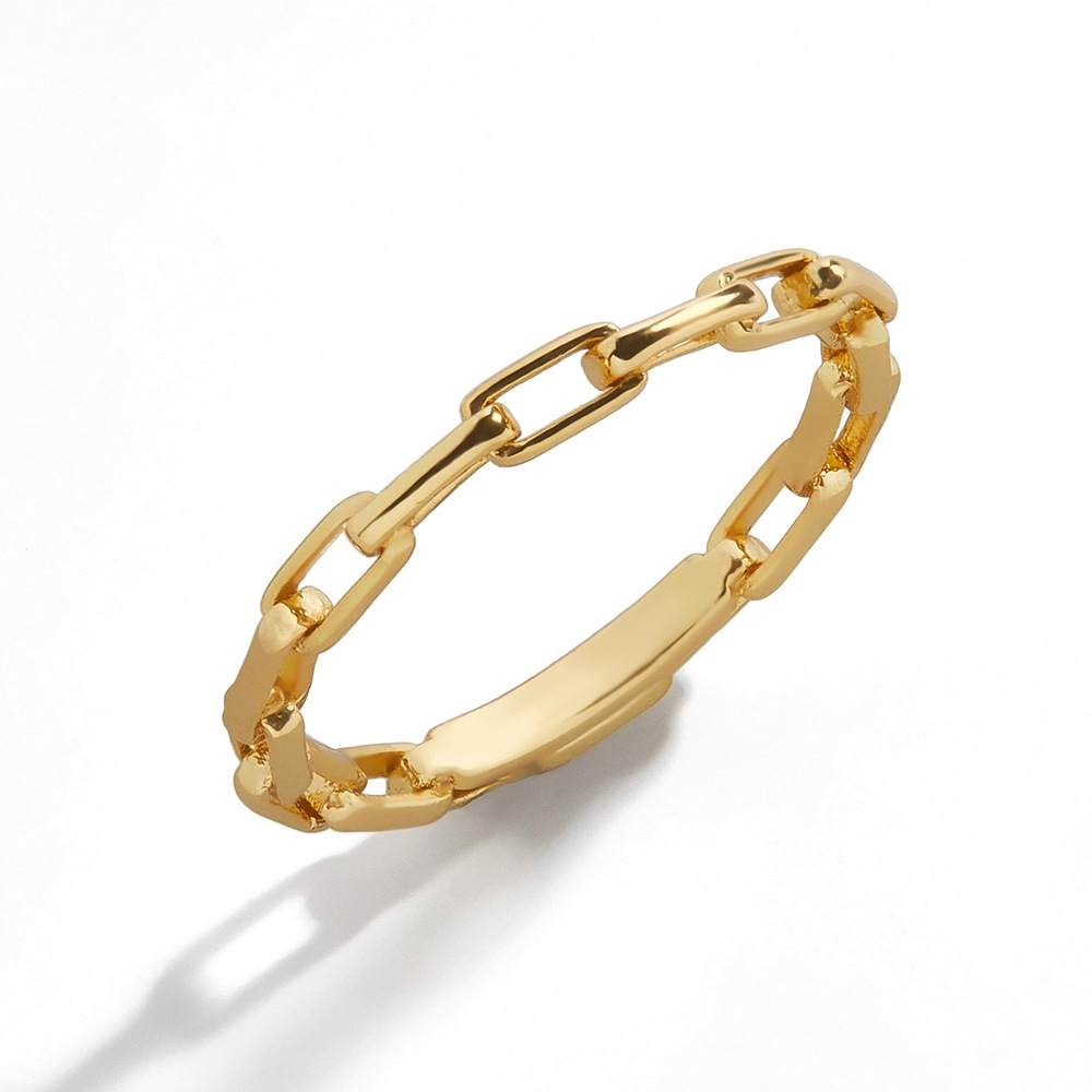 Fashion golden simple ring NHLL312817