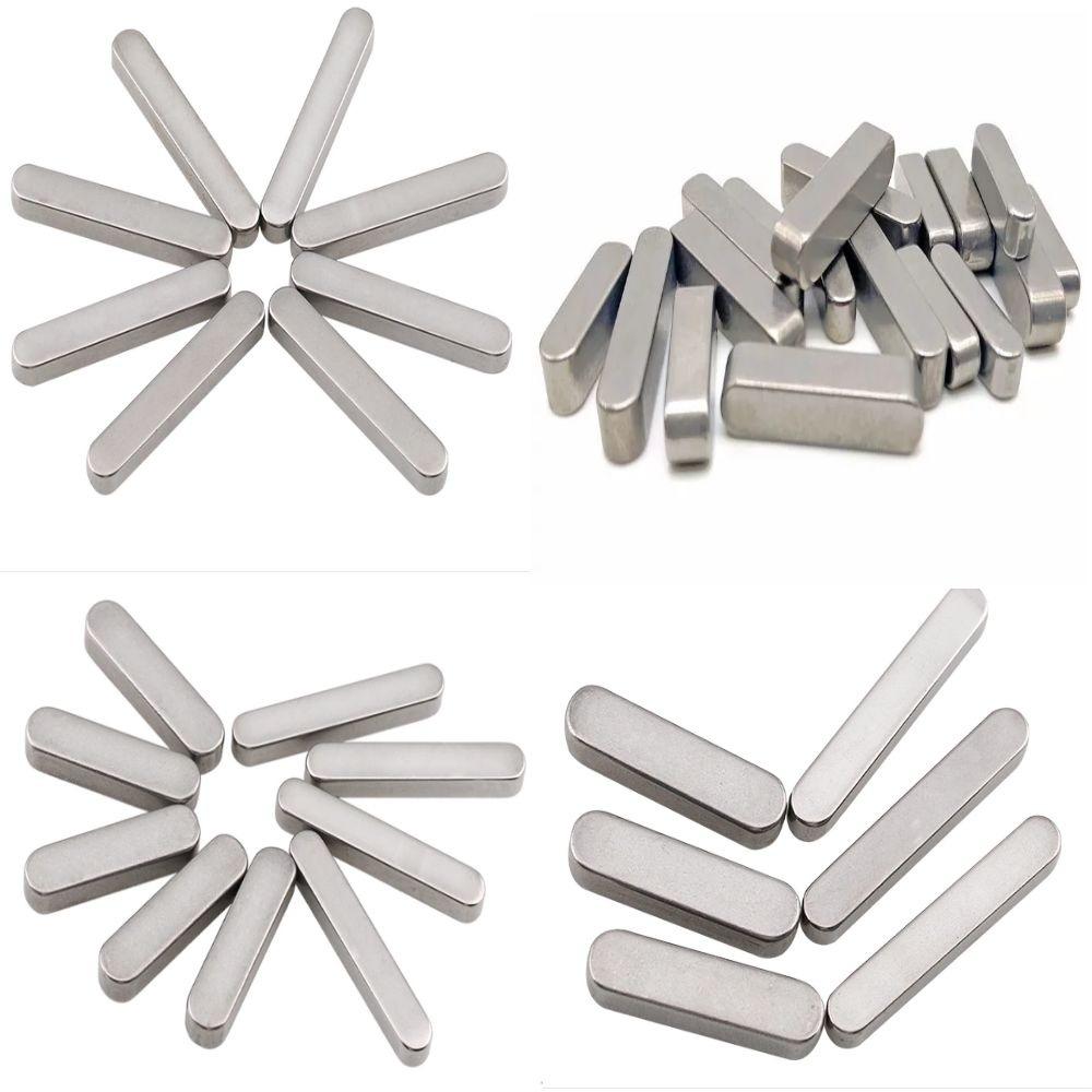 定制非标平键 304不锈钢平键 导向键两头圆方键圆角平键销方键条