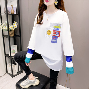 White bottoming shirt women's inner wear spring 2021 new long-sleeved t-shirt women's autumn and winter clothes Western style long top