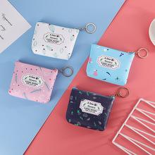 新款创意可爱卡通零钱袋包 pu皮几何花卉零钱包简约小清新零钱包