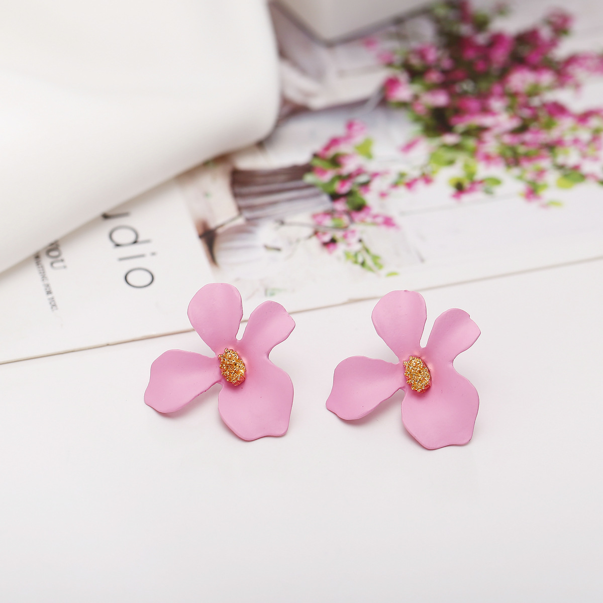 new flower creative candy color earrings NHYI316364