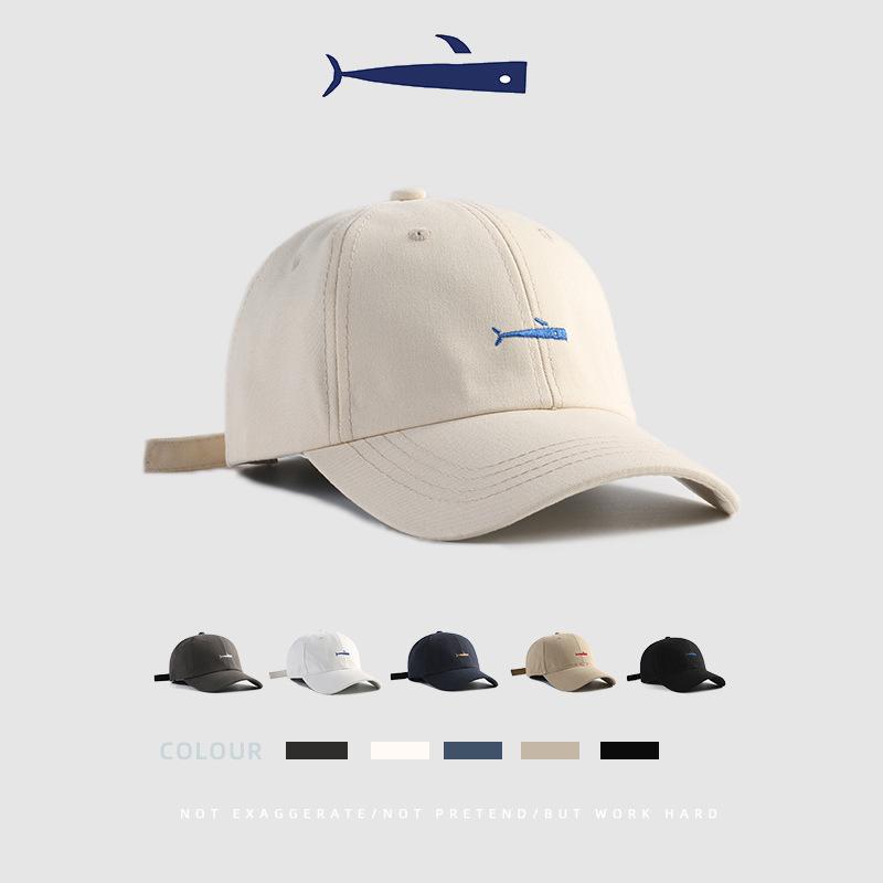 帽子女夏季纯色鸭舌帽男士简约刺绣运动太阳帽潮防晒遮阳棒球帽女