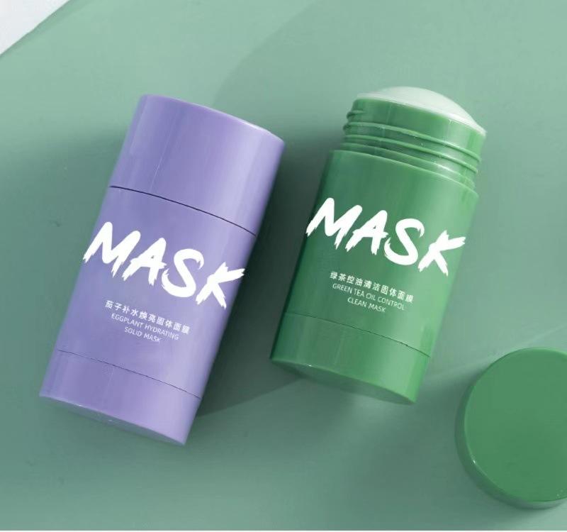 颜佳宜 茄子清洁固体泥膜棒 涂抹式面膜 绿茶泥膜 网红同款抖音