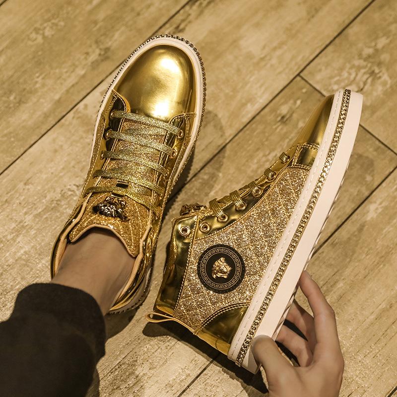 2020 الشتاء دفع الرئيسي الجديد الأوروبية محطة ميدوسا مجلس أحذية موضة عارضة عالية أعلى الربيع مدرب الأحذية