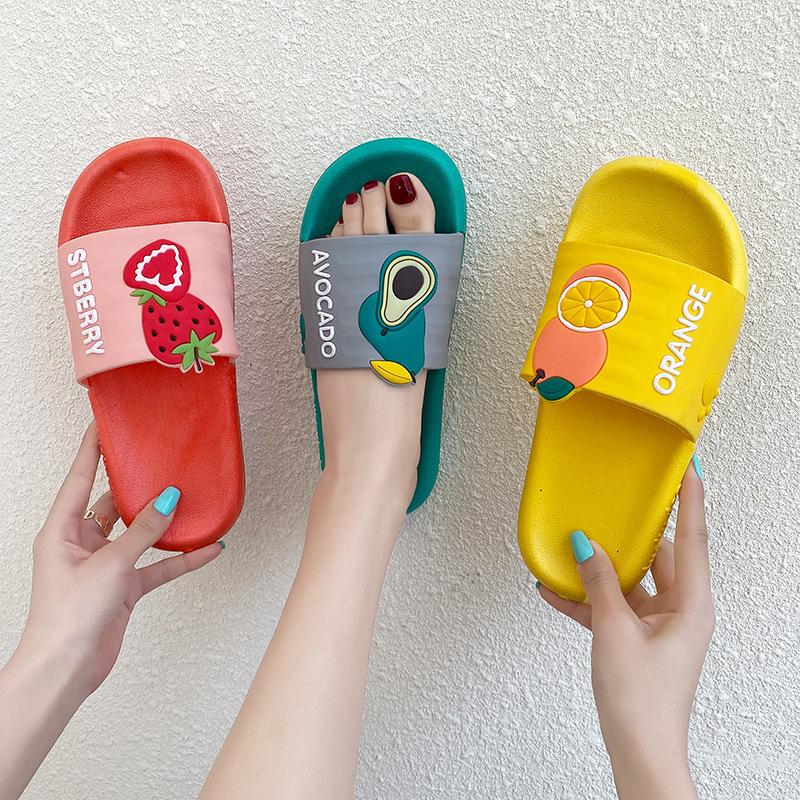 2021女生拖鞋夏季网红ins可爱卡通时尚水果款女凉拖鞋女 简约女鞋