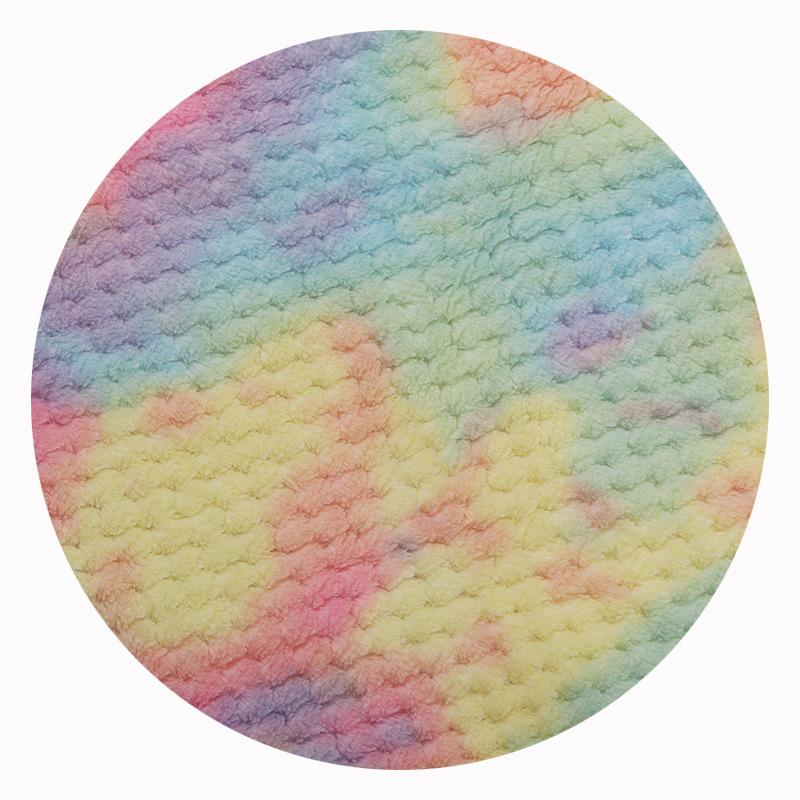新款厂家现货批发扎染贝贝绒秋冬时装毯子家纺玩具绒布贝贝绒